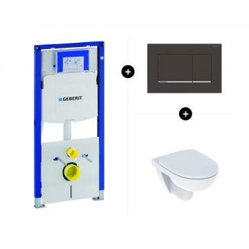 Geberit UP320 toiletset - inclusief Geberit Sigma bedieningsplaat & Geberit 280 wc-pack Rimfree