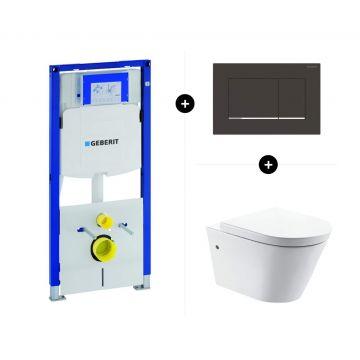 Geberit UP320 toiletset - inclusief Geberit Sigma bedieningsplaat & Sub Flow toilet rimless NANO EasyCleaning