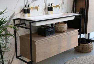 Luxe wastafel met onderkast